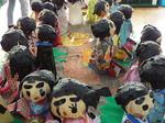 Nちゃん幼稚園のNちゃん組の紙粘土人形