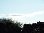 日の出直後の東の空