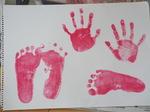 4歳Nちゃんの手形足型