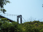 渓谷から観た吊り橋