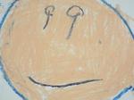 Yちゃん作のRくんの顔の絵