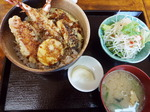 麟友朝市の朝食・天丼