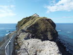 岬先端まで岩山を越えて