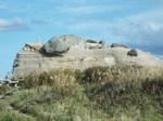 岩崩れの岩稜