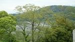 富士川SAからの富士川風景