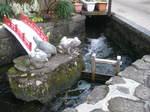 山水の側溝