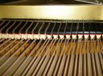 低音弦に使われるダンパーフェルト