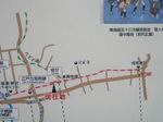芝生の追分付近の旧東海道の案内地図