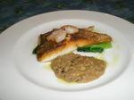 真鯛のソテー、茸のソース