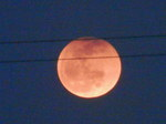 月出帯食(18時33分頃)