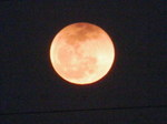 月出帯食(18時36分頃)