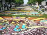 日本大通りのフラワーアート
