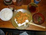 桜海老のから揚げ定食