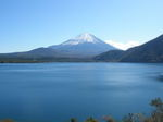 本栖湖と富士