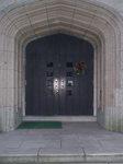 聖公会の玄関のリース