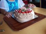 Yちゃん誕生会のバースデ—ケーキ