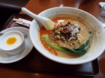 担々麺と杏仁豆腐