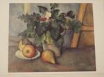 鉢植えの花と果物 ポール・セザンヌ