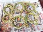 正月の稲のしめ飾り