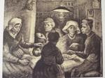 ゴッホ作・ジャガイモを食べる人々・リトグラフ