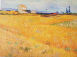 ゴッホの麦畑(アルル)1888年6月