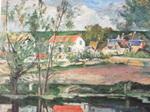 セザンヌ・オワーズ河岸の風景