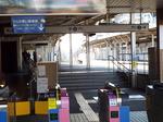 京成・柴又駅プラットホーム