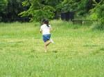 野を走るNちゃん