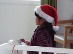 サンタの帽子を被ったNちゃん