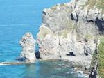 水無しの立岩と念仏トンネル