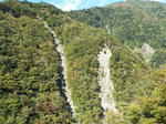 崖崩れの跡