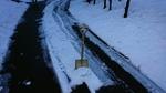雪掻きの図