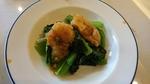 白身魚と小松菜のXO醤炒め