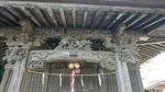 十二所神社鴨居の兎の彫刻