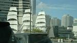 帆を張った帆船日本丸