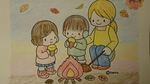 母の塗り絵・焼き芋