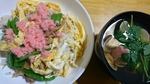 五目寿司と蛤の潮汁