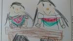 Yちゃんの絵日記 スイカを食べました
