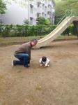 Nちゃんと私、公園で、2014.04.20