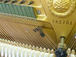 巻き線の二弦に挟んだゴム・ウェッジ