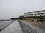 京急観音崎ホテル際のボードウォーク