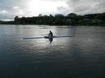 瀬田川のボート練習