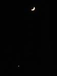 2013.11.07 五日目の月と宵の明星・金星